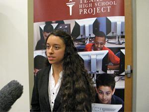 Student Jennifer Rangel, the first in her family planning on attending college.
