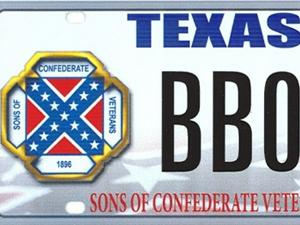 Proposed Sons of the Confederacy license plate.