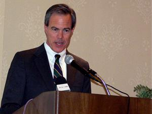 State House Speaker Joe Straus (R-San Antonio) tells business leaders manufacturers are key to growing Texas economy.