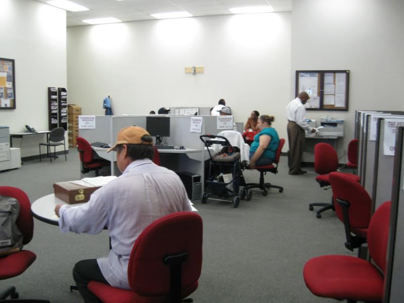 Job seekers at Dallas Workforce Solutions