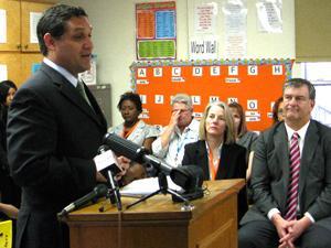 Trustee Edwin Flores at Truett Elementary School