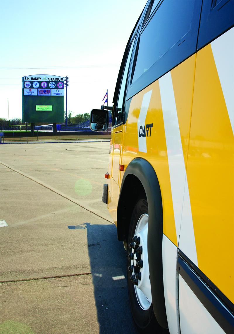 Beginning March 12 DART riders can board express buses at Mesquite's Hanby Stadium.