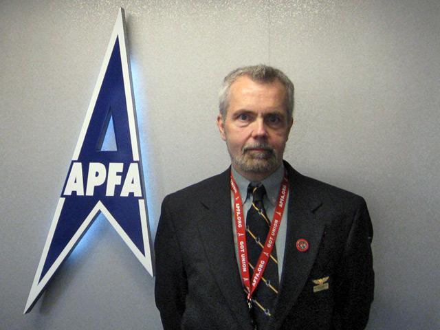 Flight Attendant Union member Patrick Hancock