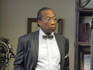 Commissioner John Wiley Price in his attorney's office