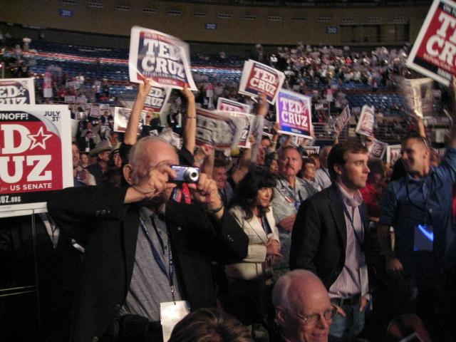 Ted Cruz supporters at state Republican convention in Fort Worth.