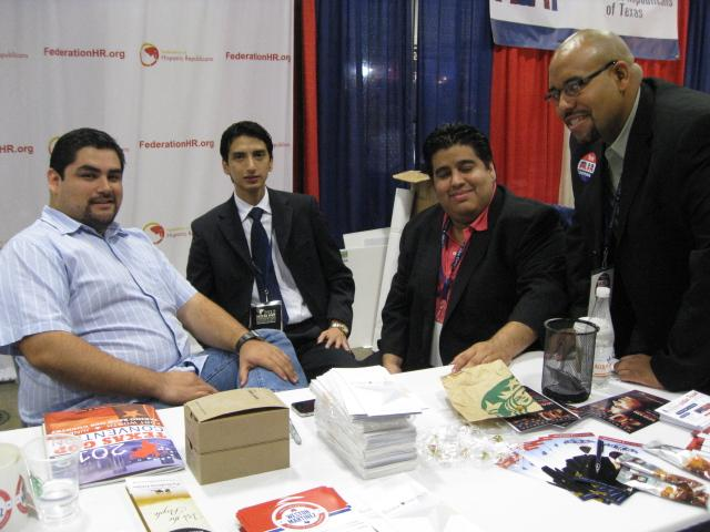 Artemio Muniz (third from left) and Hispanic Republicans who pushed Texas party to support a guest worker program.