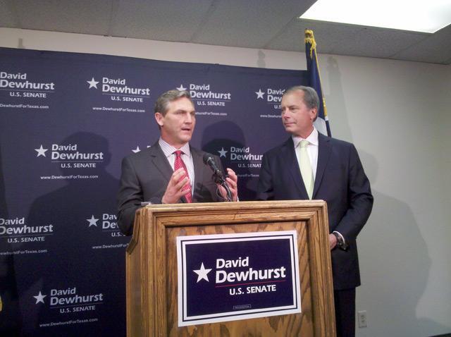 Former Senate opponent Craig James endorses David Dewhust.