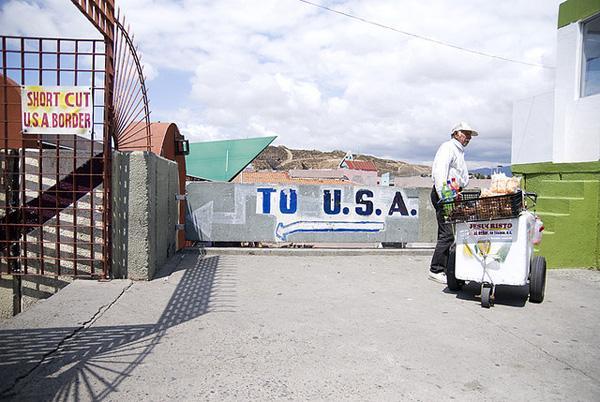 This photo shows the border in La Linea, near U.S. Customs in Tijuana, Mexico.