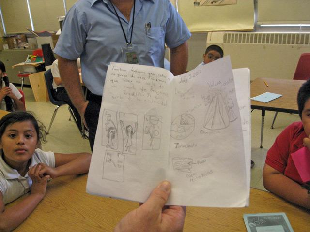 """A child's drawings about """"community"""""""