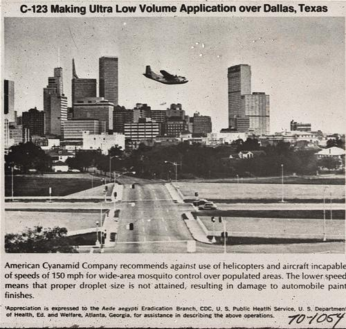 The last time Dallas employed aerial-spraying for mosquito control was in 1966.