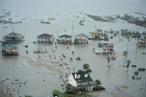 Galveston Island, Texas, after Hurricane Ike Sept. 13.