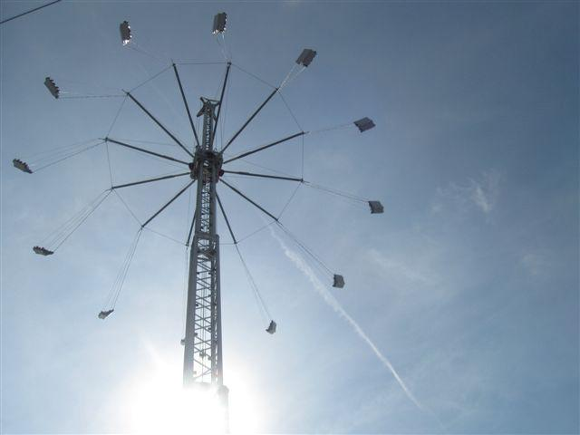 The Stratoshpere Swing Tower, the view from the ground