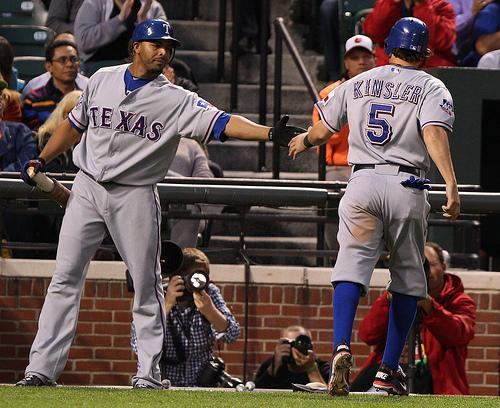 If you're needing some quick chat points for the Rangers bandwagon, we have you covered like Kinsler.