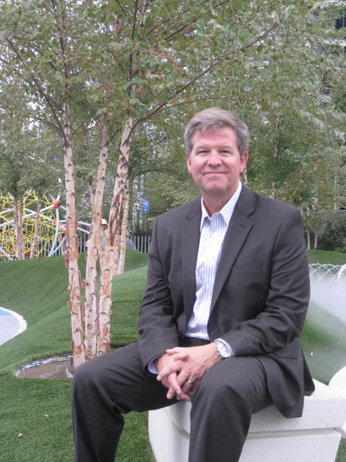 James Burnett heads the landscape architect firm that designed the Klyde Warren Park in downtown Dallas.