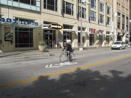 KERA's BJ Austin tests bike lane on Main Street