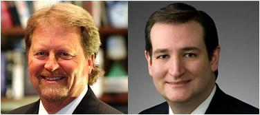 Democrat Paul Sadler, Republican Ted Cruz