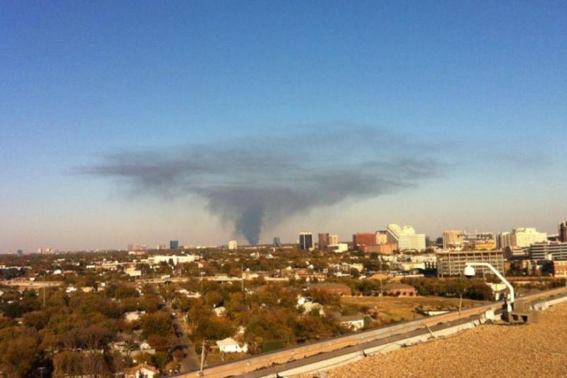 Smoke over Dallas County