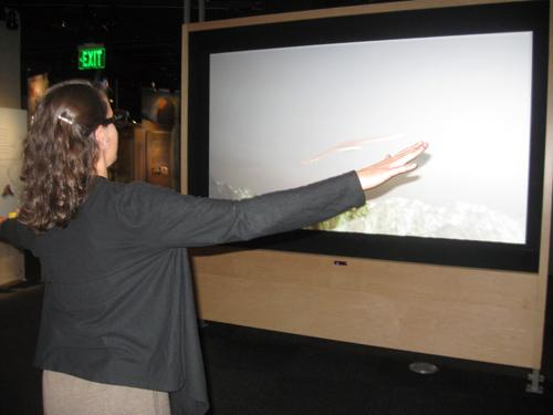 Visitors can put on 3-D glasses and experience flight.