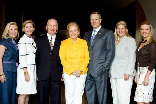 Ross Perot, founder of EDS and Perot Systems, and his wife Margot (center), gave the museum its name.  Their five children donated $50 million for the naming rights. One of them, Carolyn Perot Rathjen (left), chairs the museum's board.