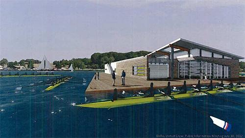 Artist rendering of proposed boathouse.