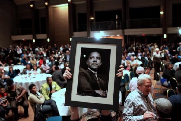 The Dallas County Democrats ushered in President Barack Obama's second term last night at the Hyatt Regency.
