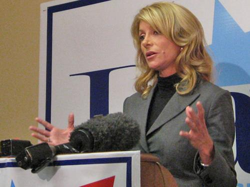 Newly Re-elected Tarrant County Texas Senator Wendy Davis.