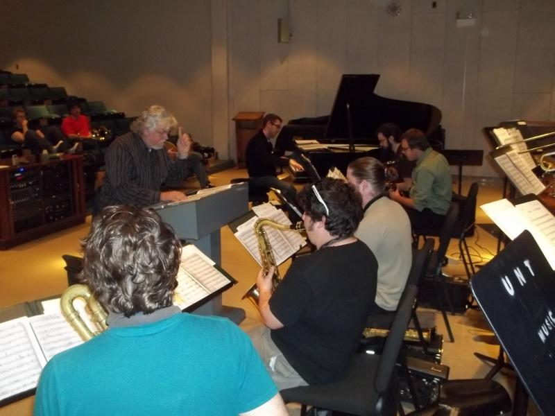 Steve Wiest directs UNT's One O'Clock Lab Band.