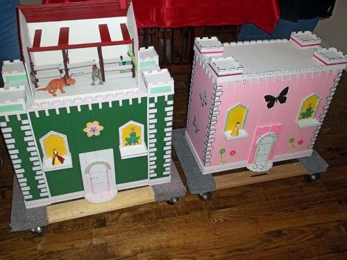 Each dollhouse or barn takes about 100 working hours to build, Ken Christopherson says.