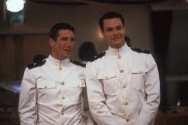 "David Keith (right, with Richard Gere in ""An Officer and a Gentleman"") did NOT wear his uniform for Wednesday's Dallas City Council meeting."