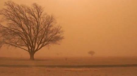 The town of Muleshoe is engulfed with high winds and dust on Wednesday.