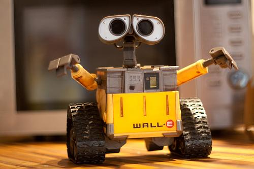 Disney's WALL-E, the ultimate inventor, is an example of our nostalgia for tinkering. Here he is at the Disney Store.