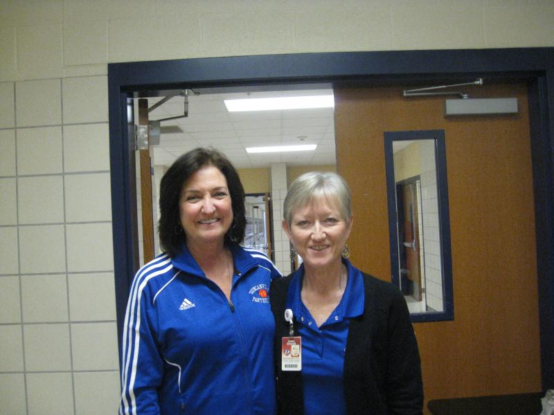 Cathy Self-Morgan, Athletic Director, and Robbie Stinnett, Director, Learning Support Services