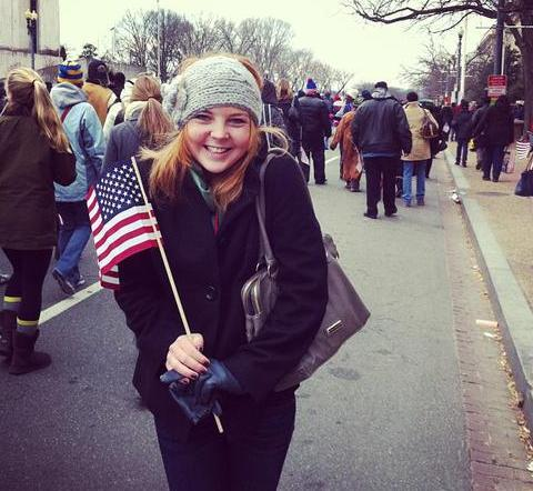SMU sophomore Katelyn Gough led the Daily Campus team covering the Inauguration.