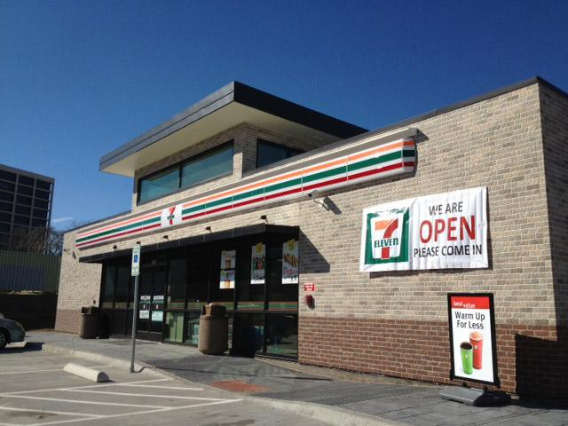 This 7-Eleven on Greenville Ave. and Meadow Rd. came together in five days via a pre-fab kit from Project Frog.