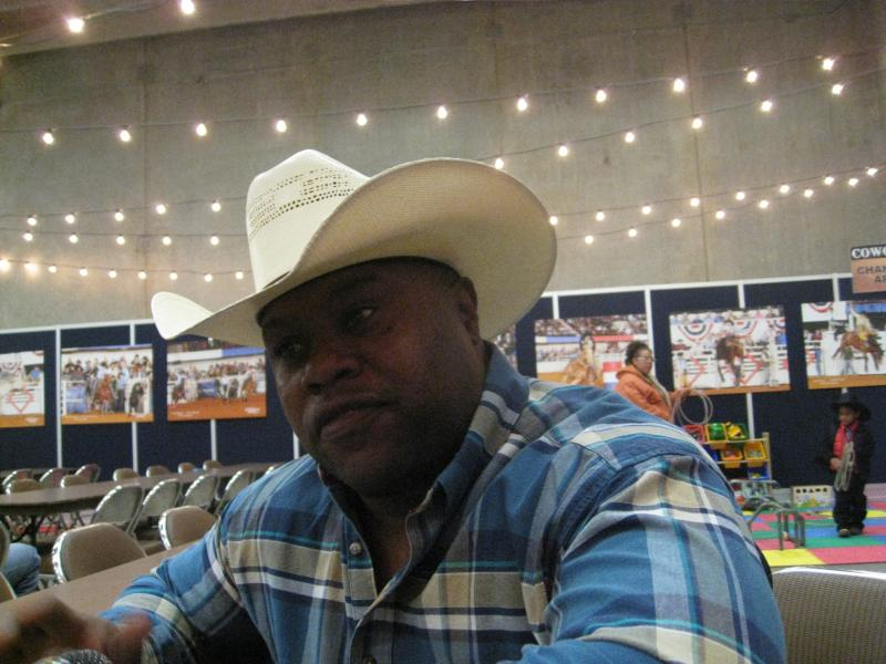 Rex Johnson, calf-roper, Cowboys of Color Rodeo