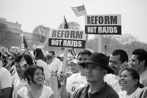 Advocates assemble at an immigration reform rally in Washington, D.C.