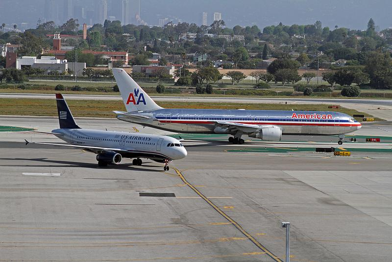 The larger American Airlines could merge with the smaller U.S. Airways with U.S. Airways management taking the lead