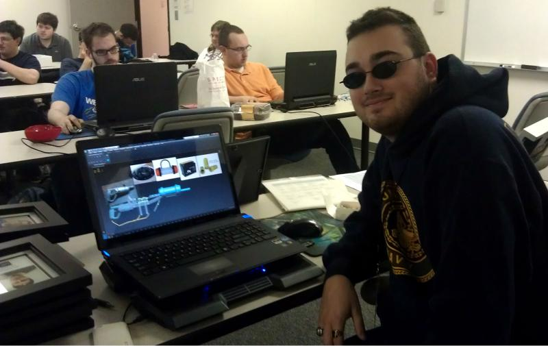A student at nonPareil Institute working on 3-D modeling.