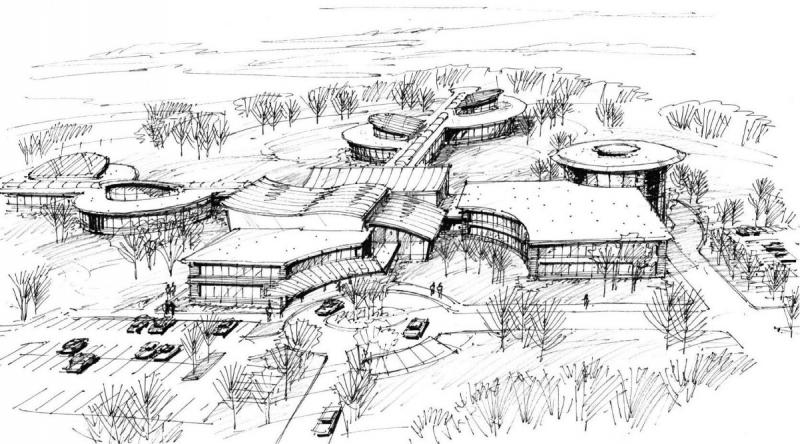 A concept drawing for a possible future nonPareil Institute campus. The current location in Plano is already at capacity.
