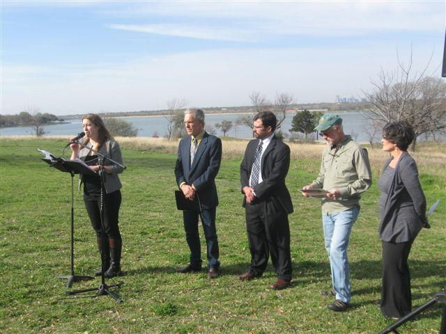 At White Rock Lake in Dallas, Environment Texas unveiled its new study on strategies for water conservation.