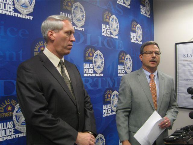 Dallas Police Major Jeff Cotner (r) says investigators are redoubling their effort to find the person or persons responsible for three sexual assaults in Lake Highlands in a month.
