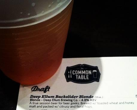 Common Table became the first restaurant to sell Deep Ellum Brewing Company's craft beers when the stamp launched in 2011. New legislation could make it easier for DEBC and others to find more outposts.