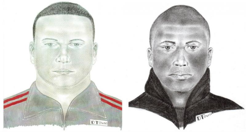 Two police sketches of Lake Highlands rape suspect.