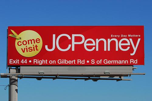 A JC Penney billboard in Arizona.