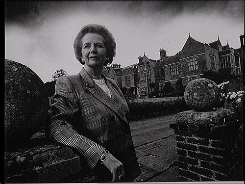 Former British Prime Minister Margaret Thatcher is pictured here at Chequers in Buckinghamshire, England. In Dallas, she preferred Flippen Park.