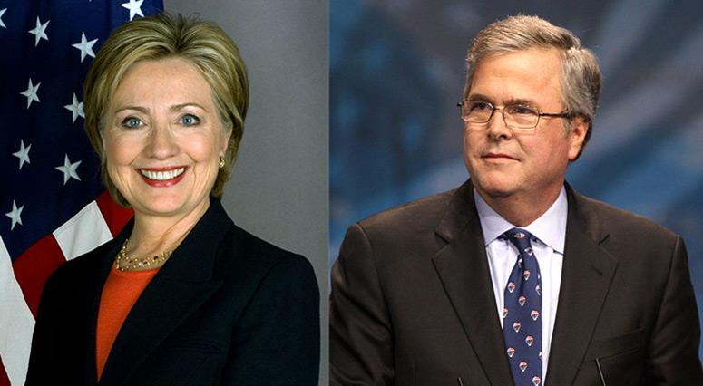 Hillary Clinton, Jeb Bush