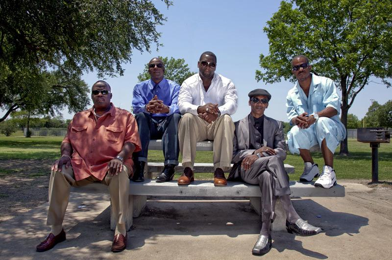 The Freedom Fighters: Claude Simmons, Thomas McGowan, Christopher Scott, Johnnie Lindsey and Richard Miles