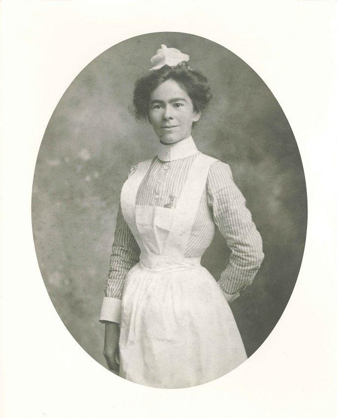 Nurse May Smith started the first medical clinic for children in North Texas one century ago. Here she's pictured in her graduation photo in 1902.