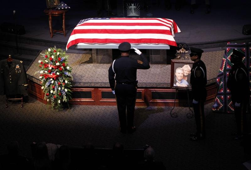 The memorial service was held at Sunnyvale First Baptist Church in Mesquite.
