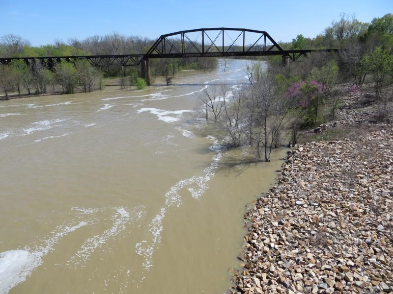 The Tarrant Regional Water District in Fort Worth, Texas, wants to pump water from the Kiamichi River in Oklahoma several miles from this point.